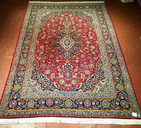 R1143C-7'6x11'9 Persian Kashan $3,999