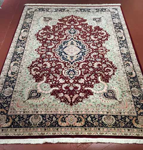 R1737C-8'4X11'10 wool, silk Sino Kashan $2,999