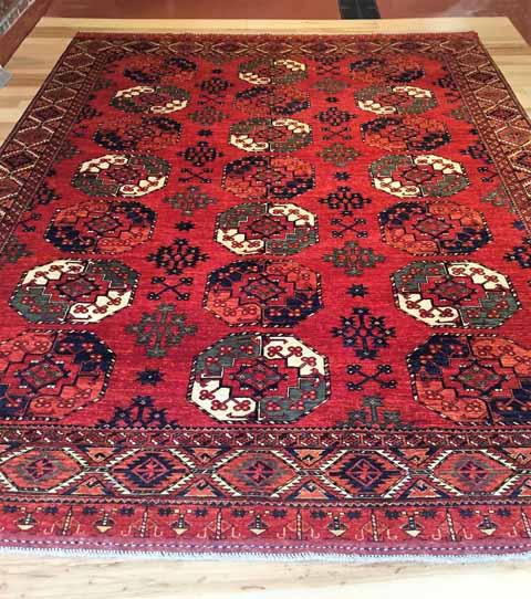 R1893- 9x12' Afghan Turkoman Bokhara, $4,999